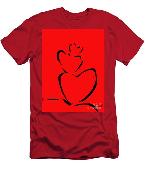A Stack Of Hearts Men's T-Shirt (Athletic Fit)