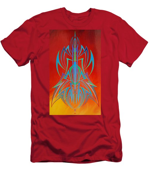 Desert Fire Storm Men's T-Shirt (Athletic Fit)