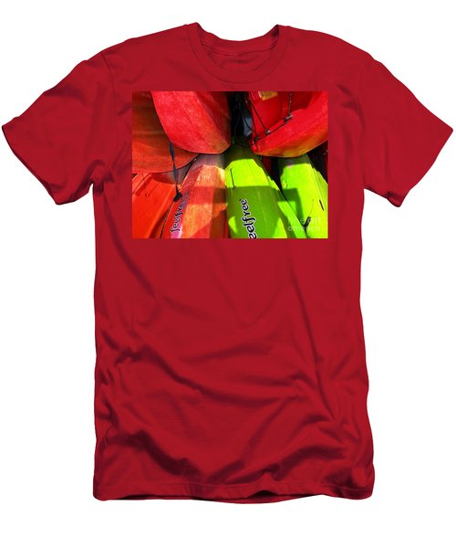 Kayaks Men's T-Shirt (Slim Fit) by Michelle Meenawong