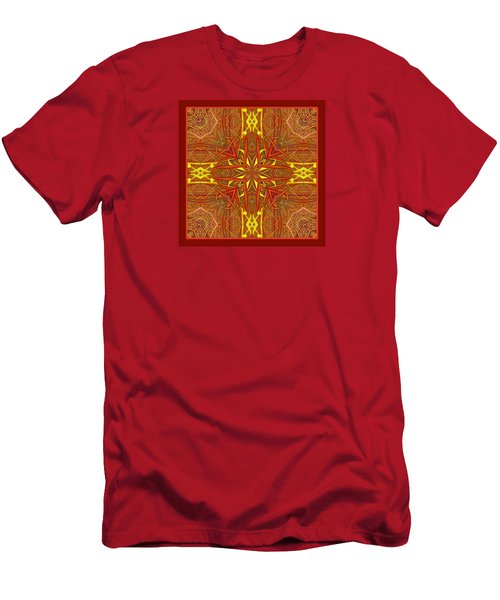 Men's T-Shirt (Slim Fit) featuring the photograph  Keltic Cross by I'ina Van Lawick