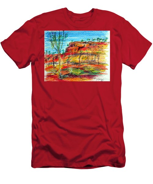 Kimberly Bold Cliffs Australia Nt Men's T-Shirt (Athletic Fit)