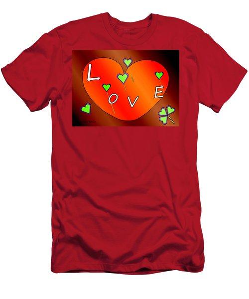 Simple  Love  Heart  - 505  Men's T-Shirt (Athletic Fit)
