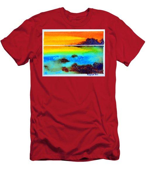 Western Australia Ocean Sunset Men's T-Shirt (Athletic Fit)