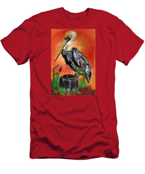 082914 Pelican Louisiana Pride Men's T-Shirt (Athletic Fit)