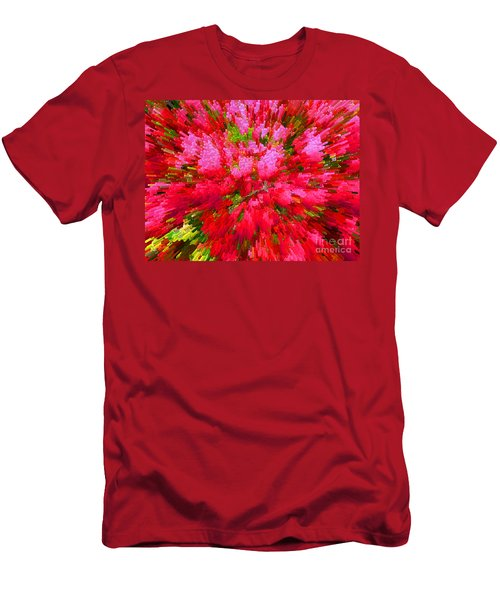 Explosion Of Spring Men's T-Shirt (Slim Fit) by Alys Caviness-Gober