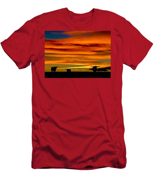 Longhorn Sunset Men's T-Shirt (Athletic Fit)
