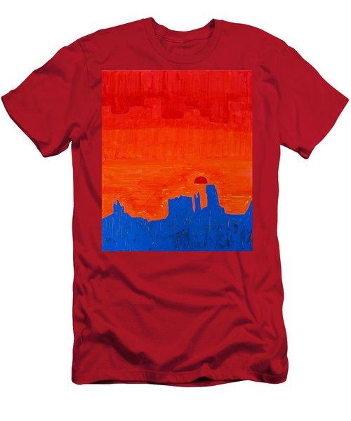 Monument Valley Original Painting Men's T-Shirt (Athletic Fit)