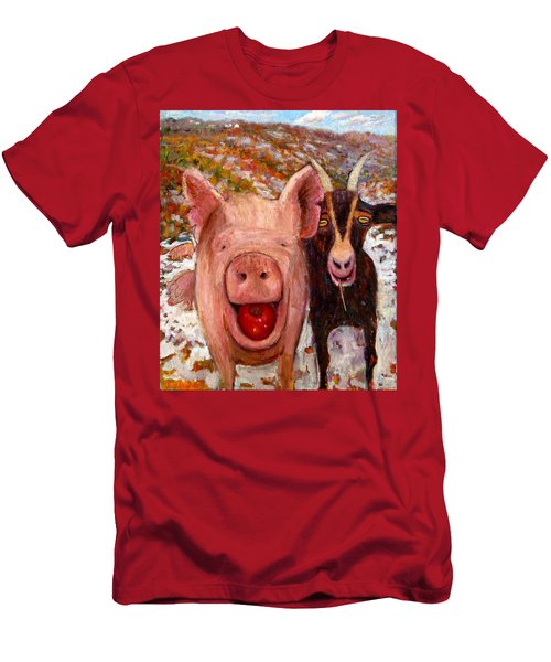 Pig And Goat Men's T-Shirt (Athletic Fit)