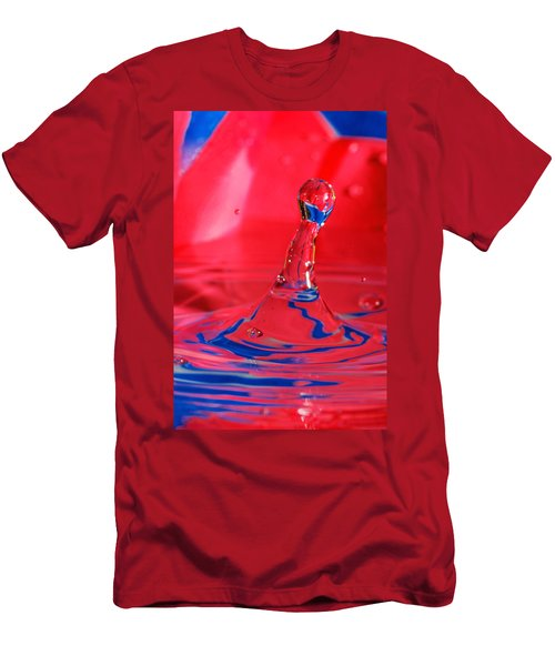 Men's T-Shirt (Slim Fit) featuring the photograph Rainbow Drop by Peter Lakomy