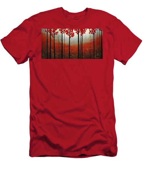 Red Blossom Men's T-Shirt (Athletic Fit)