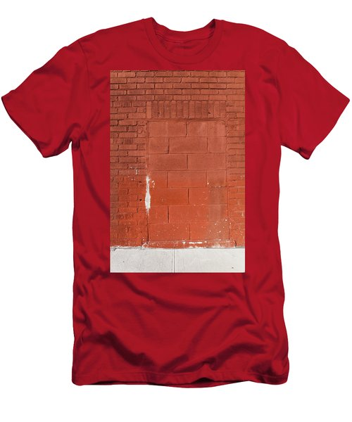 Red Wall With Immured Door Men's T-Shirt (Athletic Fit)