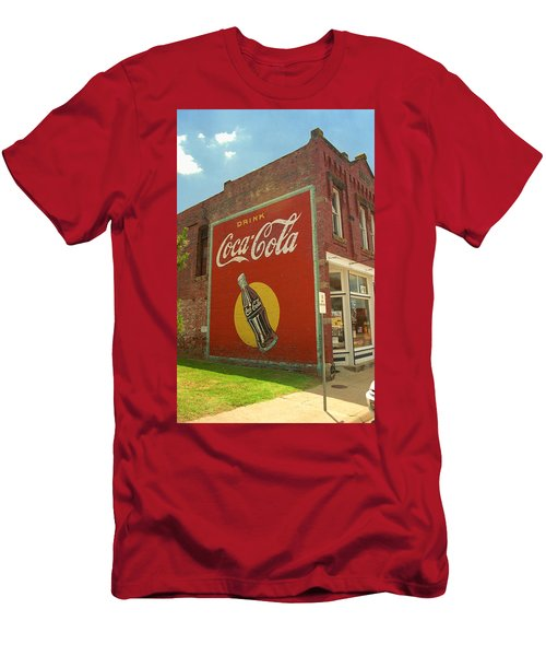 Route 66 - Coca Cola Ghost Mural Men's T-Shirt (Athletic Fit)