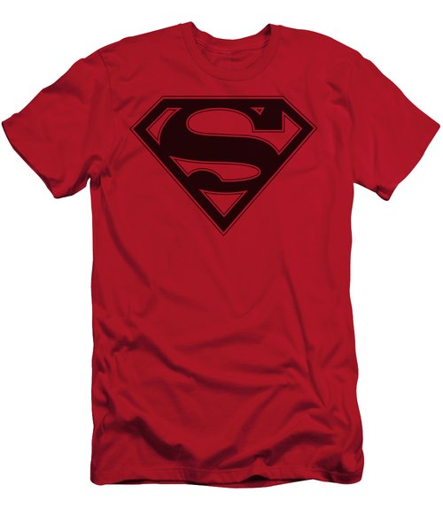 Superman - Red And Black Shield Men's T-Shirt (Athletic Fit)