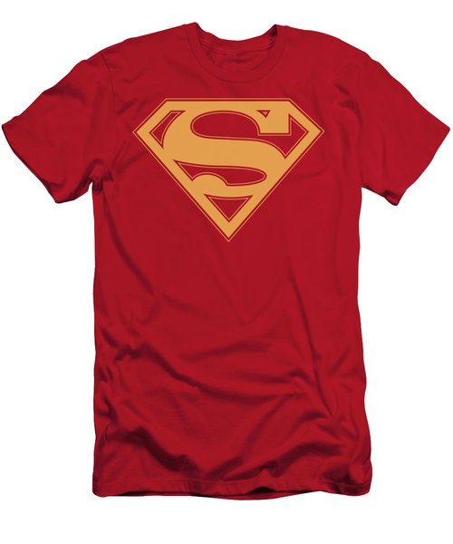 Superman - Red And Gold Shield Men's T-Shirt (Athletic Fit)