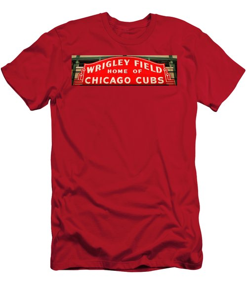 Wrigley Field Sign Men's T-Shirt (Athletic Fit)