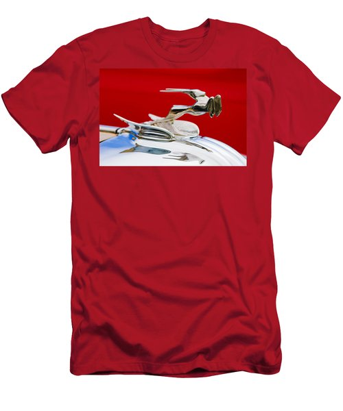 Men's T-Shirt (Athletic Fit) featuring the photograph 1931 Chrysler Coupe Hood Ornament by Jill Reger