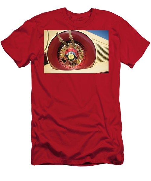 Men's T-Shirt (Athletic Fit) featuring the photograph 1933 Auburn 12-161a Custom Speedster Spare Tire Emblem by Jill Reger