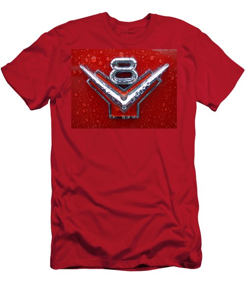 1955 Ford V8 Emblem Men's T-Shirt (Athletic Fit)