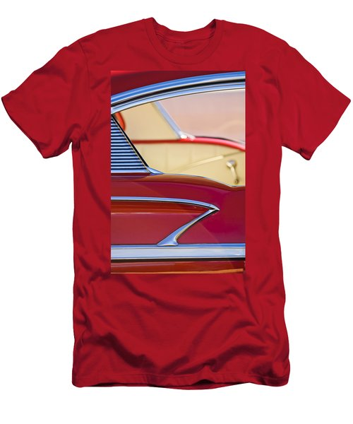 Men's T-Shirt (Athletic Fit) featuring the photograph 1958 Chevrolet Belair Abstract by Jill Reger