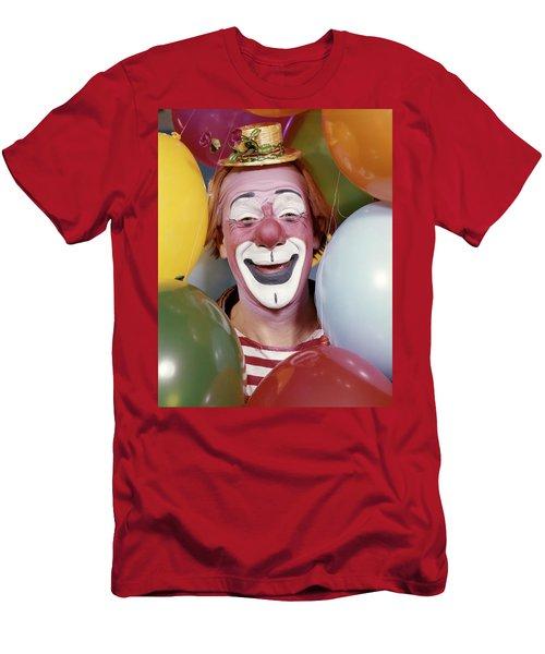 1960s Close-up Portrait Of Clown Men's T-Shirt (Athletic Fit)