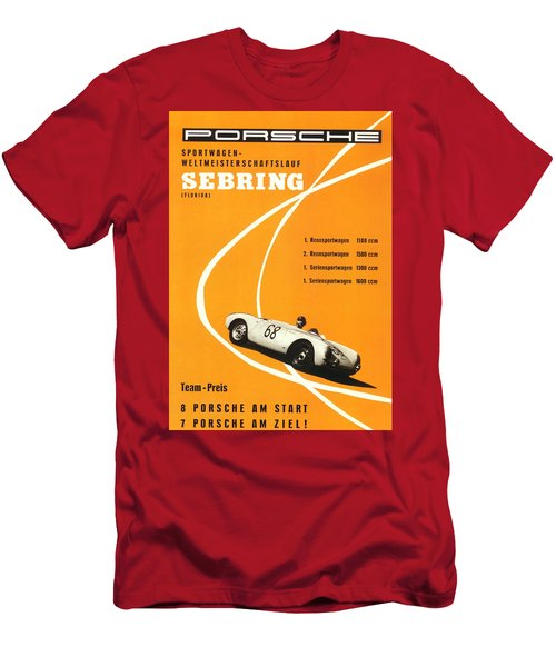 1968 Porsche Sebring Florida Poster Men's T-Shirt (Athletic Fit)