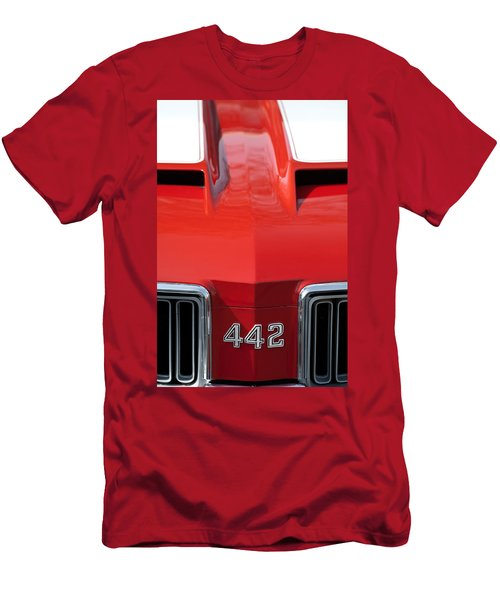 1970 Oldsmobile 442 Hood Emblem Men's T-Shirt (Athletic Fit)