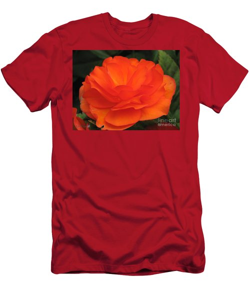 Men's T-Shirt (Slim Fit) featuring the photograph Begonia Named Nonstop Apricot by J McCombie