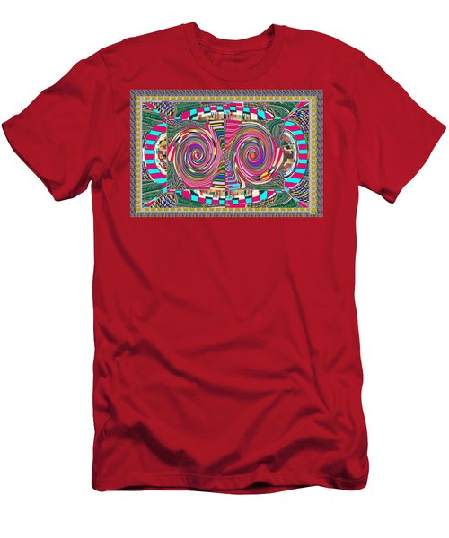 Focus Target Yoga Mat Chakra Meditation Round Circles Roulette Game Casino Flying Carpet Energy Mand Men's T-Shirt (Athletic Fit)