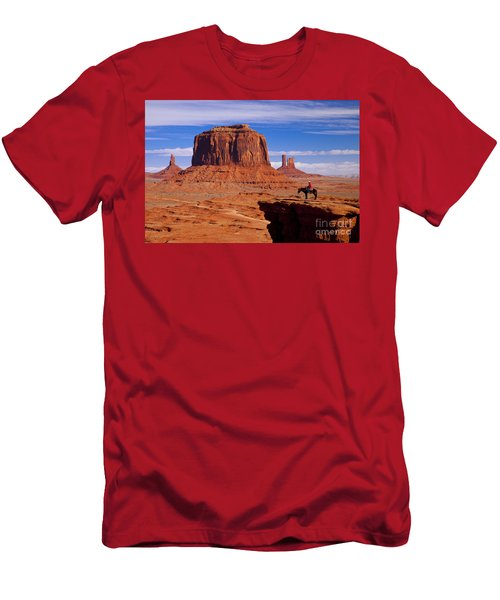 Men's T-Shirt (Athletic Fit) featuring the photograph John Ford Point Monument Valley by Brian Jannsen