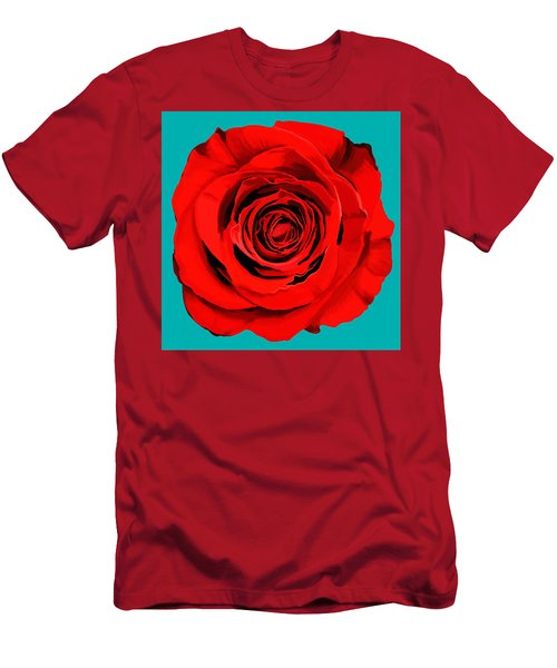 Painting Of Single Rose Men's T-Shirt (Athletic Fit)