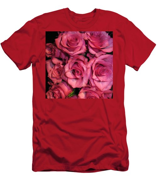 Rosebouquet In Pink Men's T-Shirt (Athletic Fit)