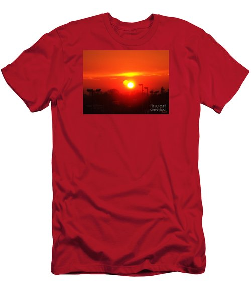 Sunset Men's T-Shirt (Slim Fit) by Jasna Dragun
