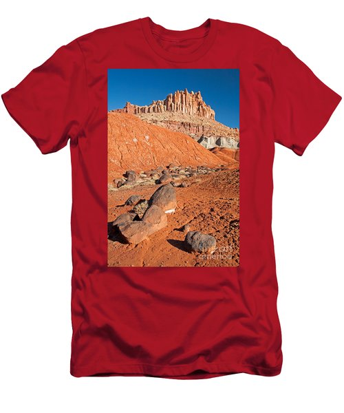 The Castle Capitol Reef National Park Men's T-Shirt (Athletic Fit)