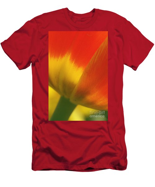 Men's T-Shirt (Slim Fit) featuring the photograph Tulip Close Up 2 by Rudi Prott
