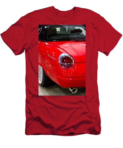 2002 Red Ford Thunderbird-rear Left Men's T-Shirt (Athletic Fit)