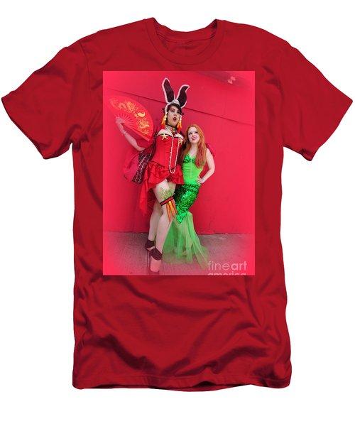 Mermaid Parade 2011 Men's T-Shirt (Slim Fit) by Mark Gilman