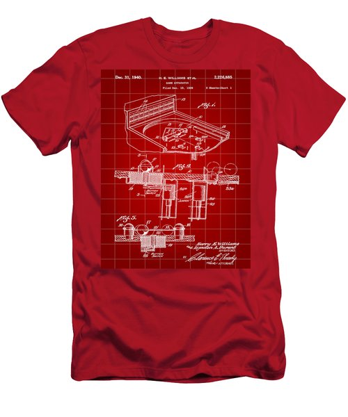 Pinball Machine Patent 1939 - Red Men's T-Shirt (Athletic Fit)