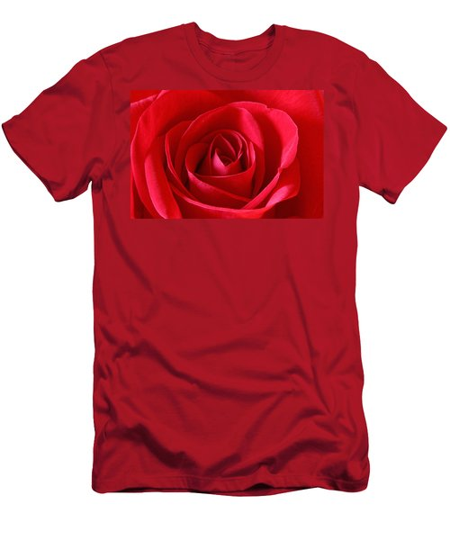 Red Rose Men's T-Shirt (Athletic Fit)