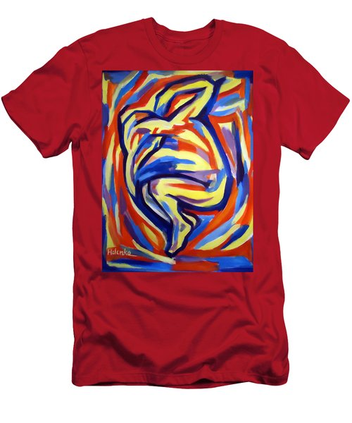 Men's T-Shirt (Slim Fit) featuring the painting Here by Helena Wierzbicki