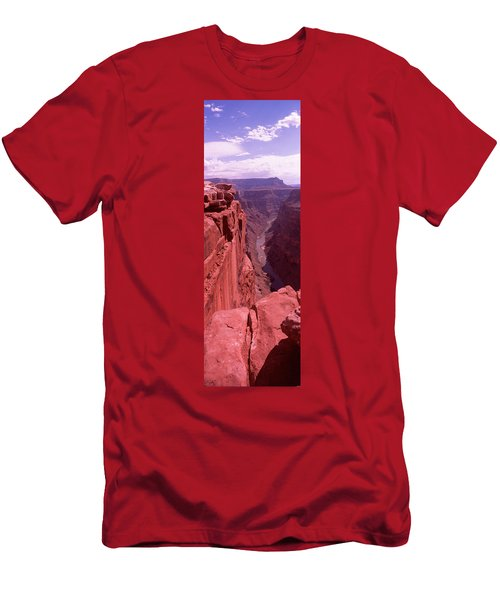 River Passing Through A Canyon Men's T-Shirt (Athletic Fit)