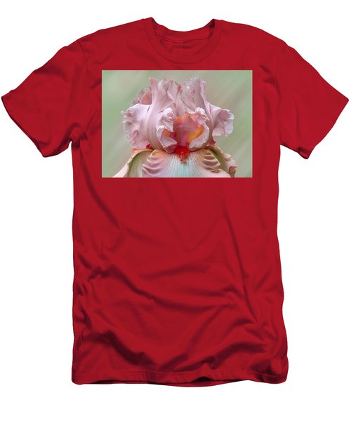Pink Electrabrite Bearded Iris Men's T-Shirt (Athletic Fit)
