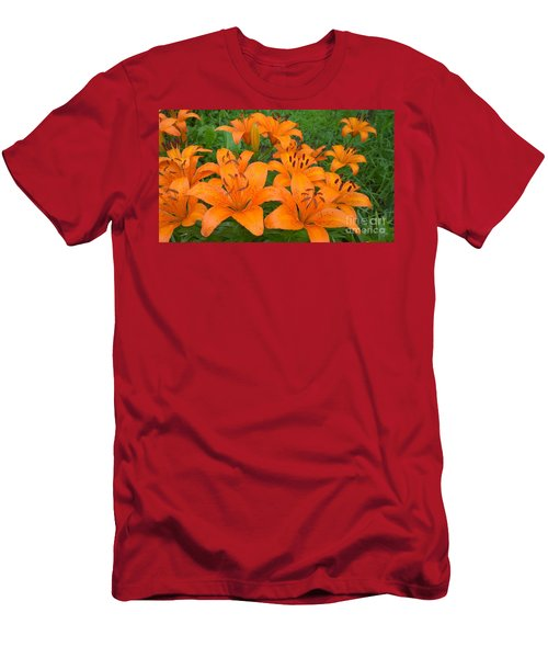 A Garden Full Of Lilies Men's T-Shirt (Athletic Fit)