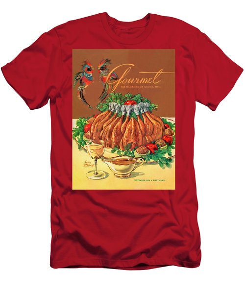 A Gourmet Cover Of Chicken Men's T-Shirt (Slim Fit) by Henry Stahlhut