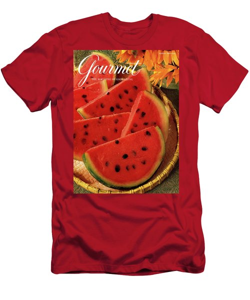 A Gourmet Cover Of Watermelon Sorbet Men's T-Shirt (Athletic Fit)