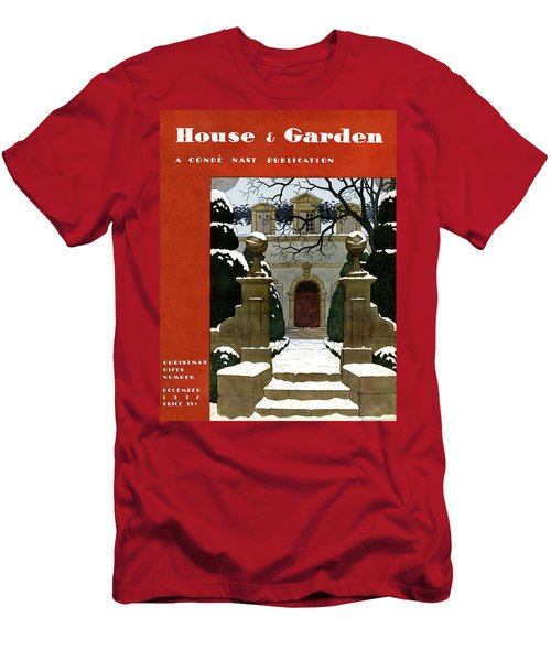 A House And Garden Cover Of A Mansion Men's T-Shirt (Athletic Fit)