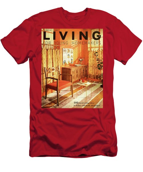 A Living Room With Furniture By Mt Airy Chair Men's T-Shirt (Athletic Fit)