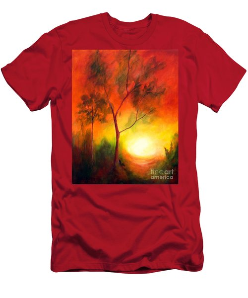 Men's T-Shirt (Slim Fit) featuring the painting A New Day by Alison Caltrider