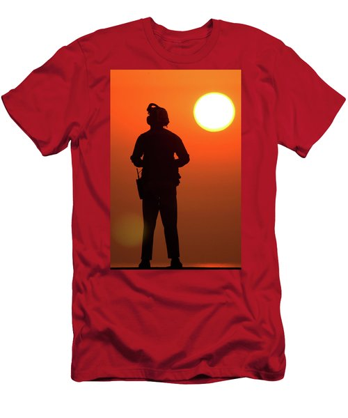A Sailor And His Sunset Men's T-Shirt (Athletic Fit)