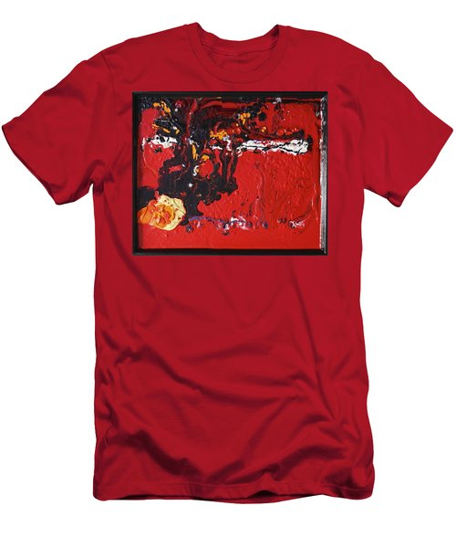 Abstract 13 - Dragons Men's T-Shirt (Slim Fit) by Mario Perron