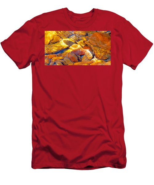 Abstract Creek Water 4 Men's T-Shirt (Athletic Fit)